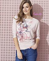 Классическая трикотажная блузка розового цвета Zaps Neo