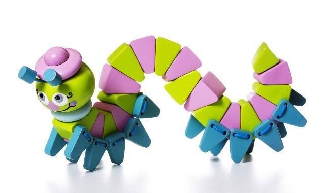 Деревянная игрушка Гусениця-акробат LA-6 Cubika
