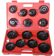 Комплект съемников масляных фильтров 14 ед. (крышки) HESHITOOLS HS-E1245 (Китай)