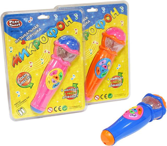Музыкальная игрушка Микрофон 7043