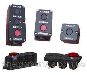 Пост кнопочный ПКЕ 222-2(грибковая), фото 2