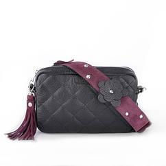 Кожаная женская сумочка-клатч