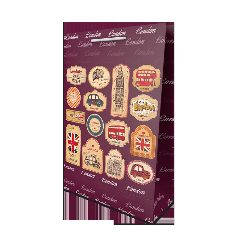 Пакет подарунковий №7 (360Х240Х90) від 10 шт.