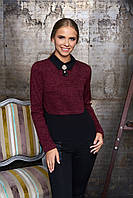 Женская бордовая блуза Лючия Arizzo 44-52  размеры