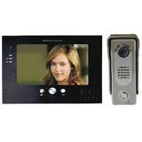 Комплект видеодомофон + вызывная панель Competition MT373C black + SAC5C