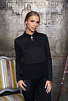 Женская блуза Лючия антрацит Arizzo 44-52  размеры