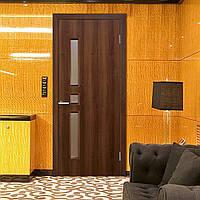 Двери межкомнатные Комфорт полотно остекленное орех, фото 1