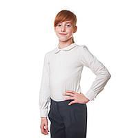 Школьная блузка для девочки с длинным рукавом