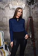 Женская синяя блуза Лючия  Arizzo 44-52  размеры