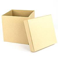 Подарочная коробка Крафт 16x16x16 см