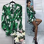 """Женский стильный комбинезон с листями в стиле """"D&G"""", фото 2"""