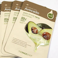 Тканевые маски для лица THE FACE SHOP Real Nature Mask Sheet avocado