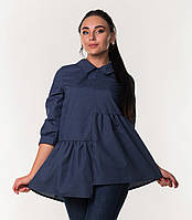 Стильная женская блуза с рукавом три четверти