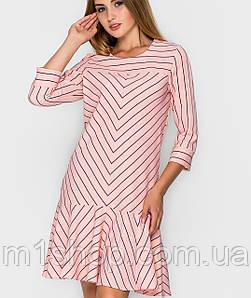 Женское платье в полоску и воланом по низу(2272sk)