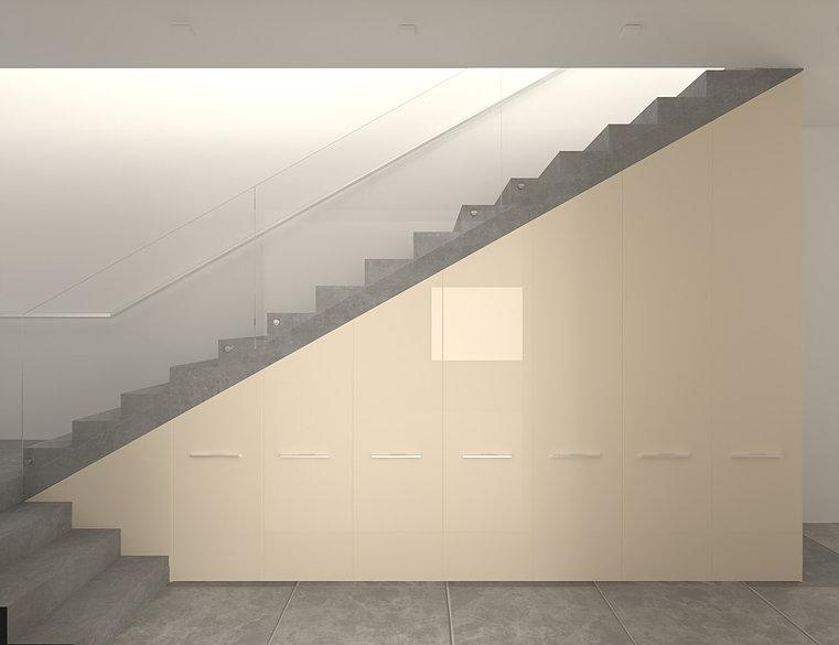 Шкаф-Гардеробная под лестницу Wanilla