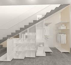 Шкаф-Гардеробная под лестницу Wanilla, фото 3