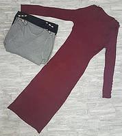 Платье осеннее шерстяное вязаное длинное 712.1