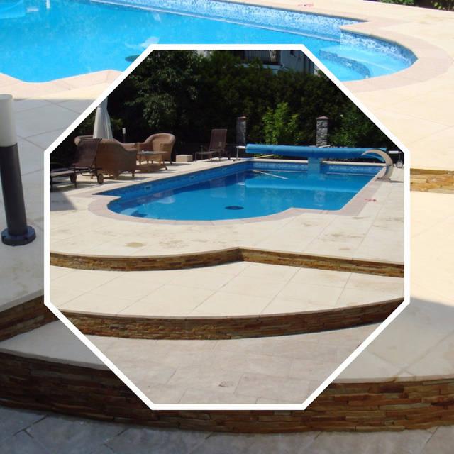 Плавательный бетонный бассейн неправильной формы 1