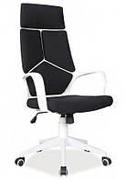 Кресло Q-199 офисное Чёрное/белый корпус