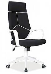 Крісло Q-199 офісне Чорне/білий корпус