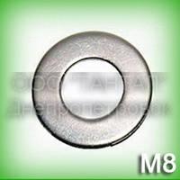 Шайба 8 нержавеющая ГОСТ 11371-89 (DIN 125, ISO 7089,70190) А2 плоская
