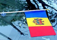 Флаг Молдовы, флаг на присоске в автомобиль, прапор Молдови