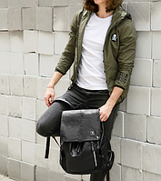 Мужской кожаный рюкзак. Модель 61378, фото 7