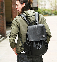 Мужской кожаный рюкзак. Модель 61378, фото 8