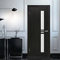 Двери межкомнатные Нота ФП с рисунком на стекле венге