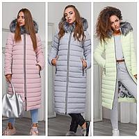 Удлиненный пуховик женский | Зимняя куртка женская