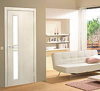 Двери межкомнатные Нота ФП с рисунком на стекле сосна сицилия