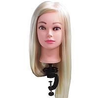 Манекен голова Блондинка женская ученическая для причёсок с волосами