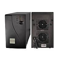 ИБП LogicPower LP-850VA 2 розетки, 5 ступ. AVR, 7.5Ач12В, черный металлический корпус