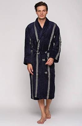 Турецкий мужской махровый халат