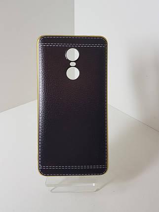 Кожаный чехол-бампер на Xiaomi Redmi  Note 4X Black, фото 2