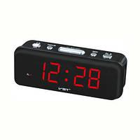Часы настольные vst-738-1, компактные, электронный циферблат с красной подсветкой, громкий будильник, фото 1