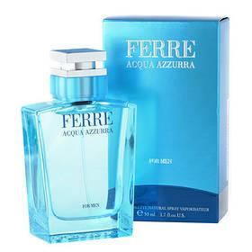 Мужская туалетная вода Gianfranco Ferre Acqua Azzurra (свежий, древесный, аромат)