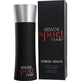 Мужская туалетная вода Armani Code Sport (освежающий древесно-цитрусовый аромат) | Реплика