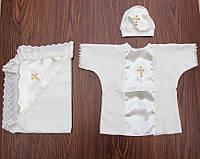 Крестильный набор 3 в 1-крыжма,сорочка и шапочка