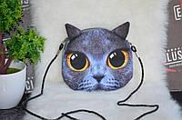 "3Д сумка ""Дымчатый кот""."