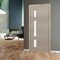 Двери межкомнатные Соло со стеклом сосна мадейра