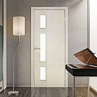 Двери межкомнатные Соло со стеклом сосна сицилия