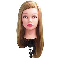 Манекен голова Русая женская ученическая для причёсок с волосами