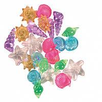 Ракушки Trixie Set of Sea Creatures для аквариума декоративные, пластик, 24 шт