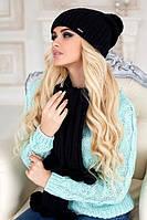 Зимний женский комплект «Монблан» (шапка и шарф)