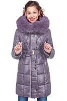 Зимнее полупальто для девочки