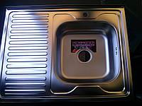Мойка кухонная накладная Platinum 60х80см сатин