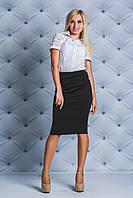 Рубашка женская с коротким рукавом белая