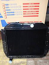 Радиатор Зил 130, Зил 131 (производитель ШААЗ, оригинал)  3-х рядный, медь