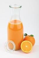 Бутылка стеклянная с крышкой 1л, Н255 мм, D60мм APS 82309